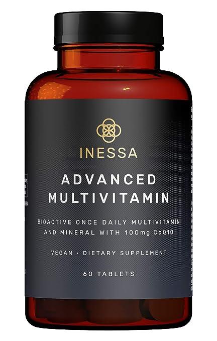 Multivitamínico de Inessa Wellness | Complejo Vitamínico contro el Cansancio con Coenzima q10 Antioxidante, Vitaminas