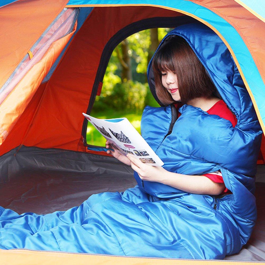 HM&DX Verano Saco De Dormir Camping Envoltura Adultos 3 Temporadas Portátil Ultraligero Bolsa De Dormir con Saco De Compresión Hiker Mochilero Viajar ...