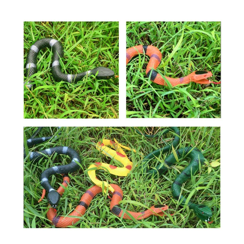 MUMULULU 4 PCS Realistic Rubber Snake Novelty Scare Toys for Garden Props Practical Joke by MUMULULU (Image #4)