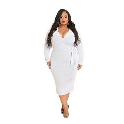 Chic and Curvy Women's Plus Size Bodycon withTie Belt In