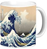 Rikki Knight Katsushika Hokusai Art A Big wave of Kanagawa Design 11 oz Photo Quality Ceramic Coffee Mug Cup- Dishwasher and Microwave Safe