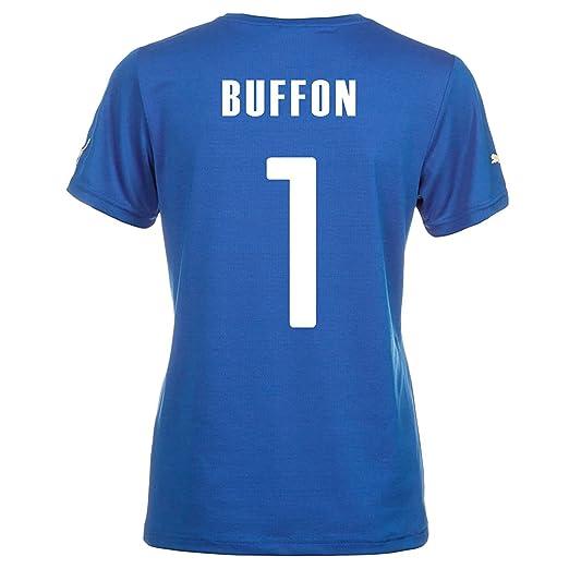ae115f57e5d Amazon.com  PUMA Italy BUFFON  1 Italy Home Jersey World Cup 2014 ...