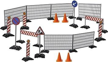 Zäune bruder 3462007 Zubehör Baustellenset Schilder und Pilonen