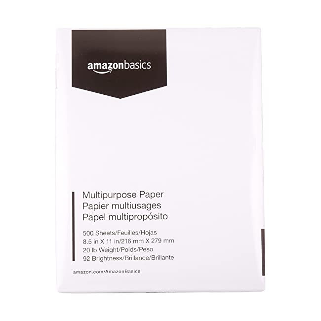 AmazonBasics 92 Bright Multipurpose Copy Paper...