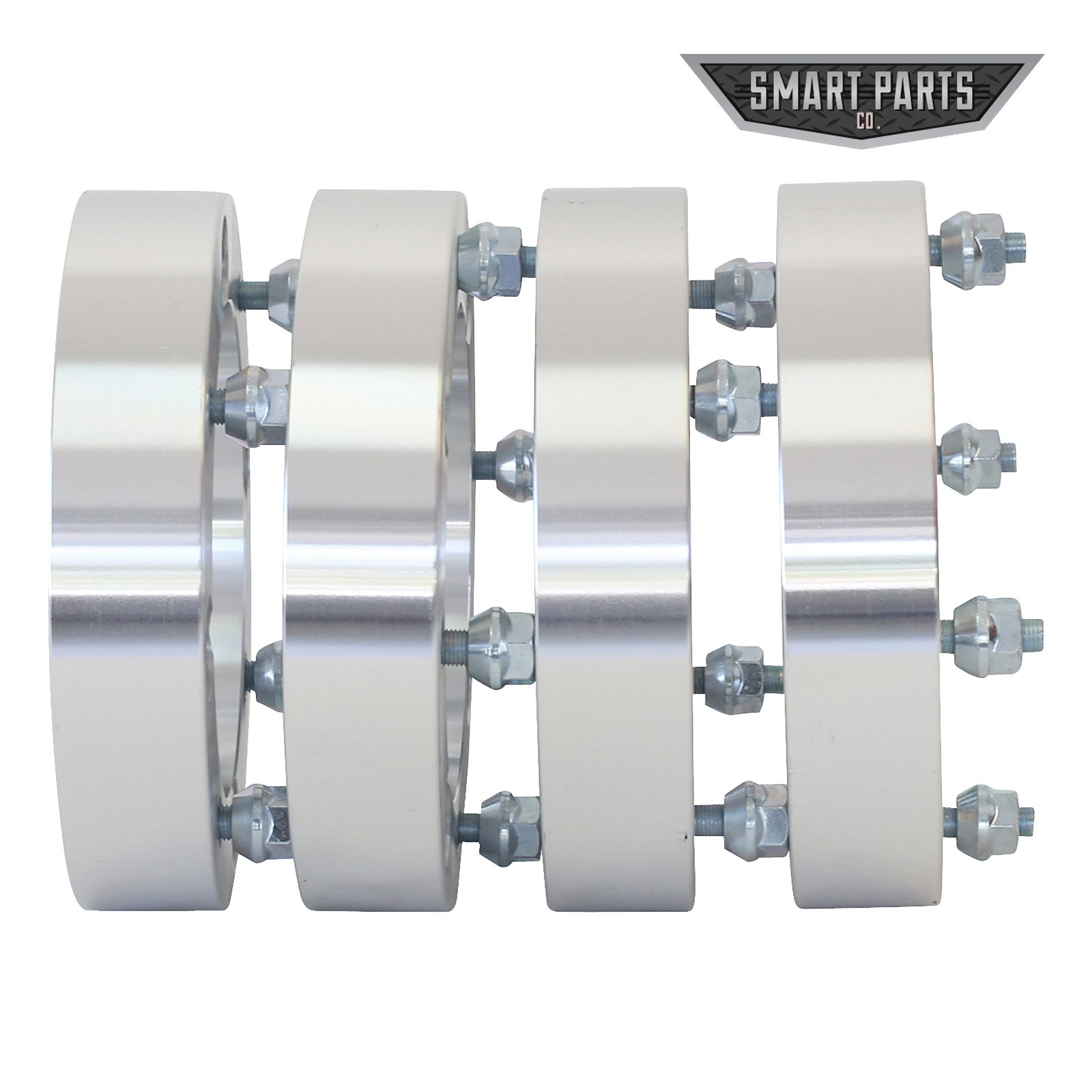 "4 ATV Wheel Spacers 4x156 – wheel spacer 1.50"" thick; I.D.=131mm; counter bore=141mm X 9.1mm deep; studs = M12x1.5 Polaris RZR Ranger by Smart Parts (Image #3)"
