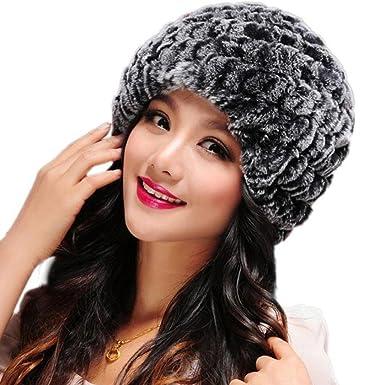 93ba5bd48d5ec Femme Russe Chapka de Fausse Fourrure de Lapin Polaire Bonnet Chapeau de  Hiver (Gris): Amazon.fr: Vêtements et accessoires