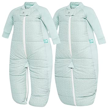 8c1f4fde1 ErgoPouch Winter Baby Sleep Suit Bag 3.5 Tog Mint  Amazon.co.uk ...
