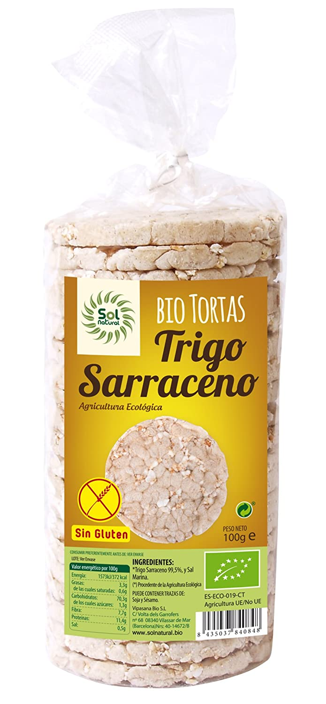 Sol Natural Tortas de Trigo Sarraceno, sin Gluten - Paquete de 12 x 100 gr - Total: 1200 gr