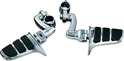 Kuryakyn 4574 Motorcycle Foot Controls 1 Pair Longhorn Offset Dually Highway Pegs with Magnum Quick Clamps for 1-1//2 Engine Guards//Tubing Chrome