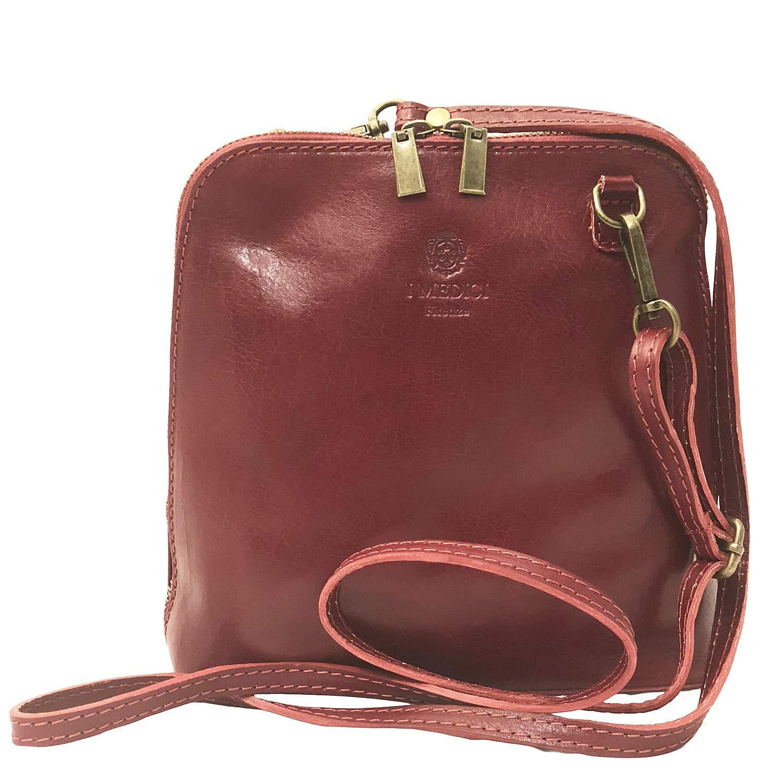 I Mediciのメッセンジャーバッグ。イタリア製レッドバッグ298から直接輸入。 B07KFQCBV6