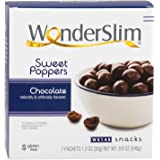 WonderSlim Weight Loss Meal Replacement Sweet Poppers Snacks - High Protein, Low Carb, Trans Fat Free, Gluten Free, Aspartame Free - Chocolate - 1 Box (7ct)