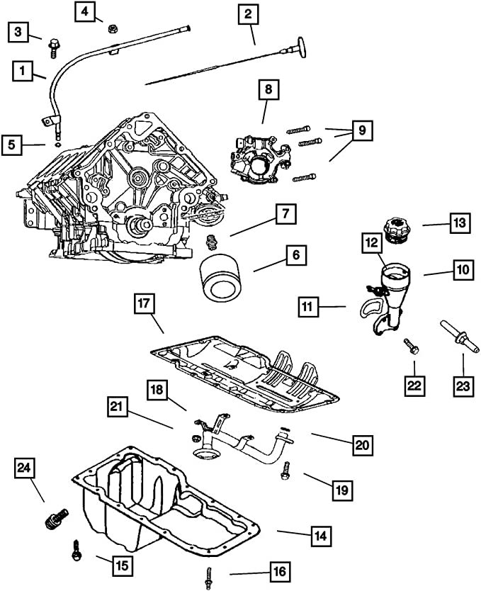 Mopar 0508 0088AA Engine Oil Filler Pipe Gasket
