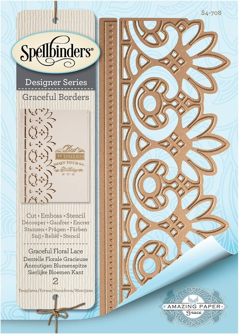 Spellbinders Card Creator Die-Graceful Floral Lace
