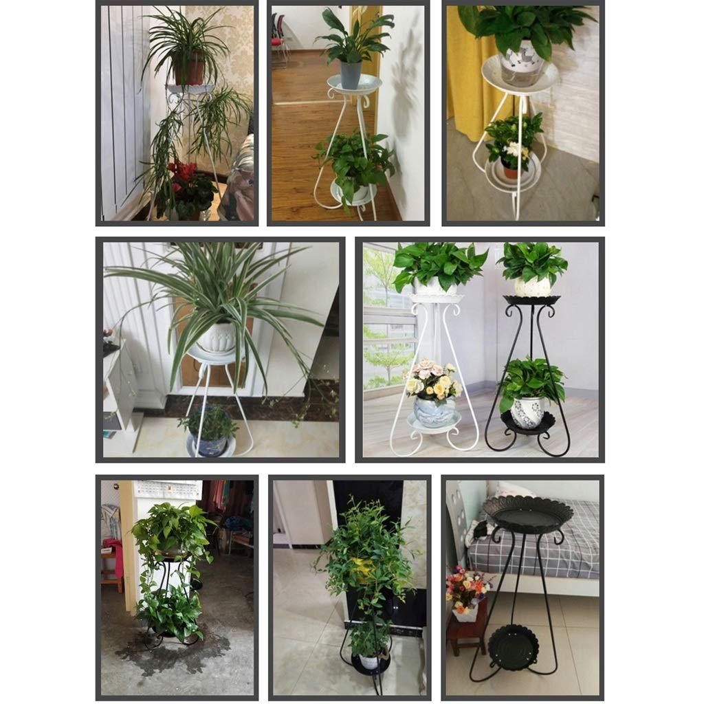 QYJpB Multicapa Hierro Forjado Flower Stand Flores en Rack ...