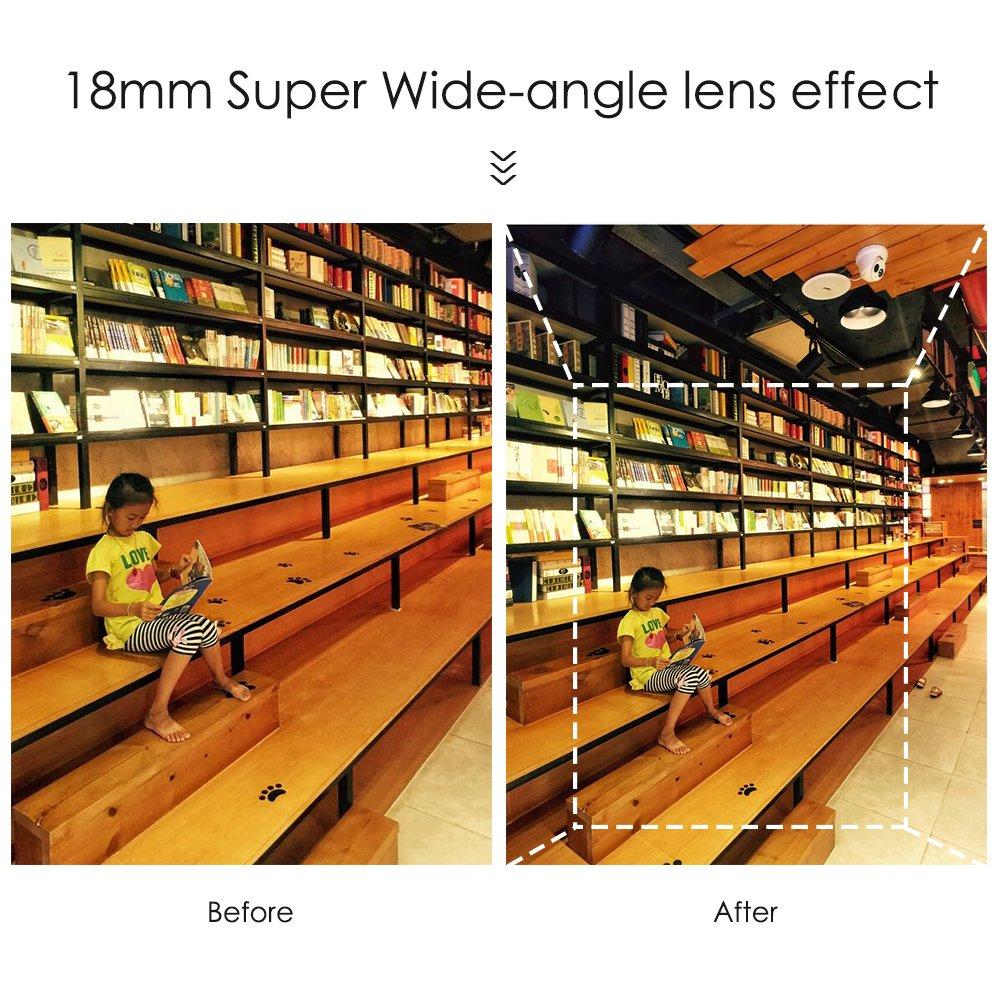 17608cc5937 Apexel Mal de Ojo 18mm Profesional Lente Gran Angular de teléfono con cámara  HD para iPhone Plus 6 / 6S Plus: Amazon.es: Electrónica
