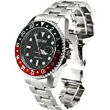 Nautec No Limit Deep Sea DS GMT/STRDBK - Reloj de caballero automático, correa de acero inoxidable color plata
