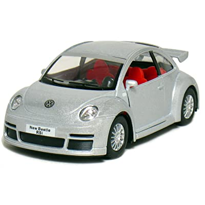 "KiNSMART 5"" Volkswagen New Beetle RSi 1:32 Scale (Silver): Toys & Games"