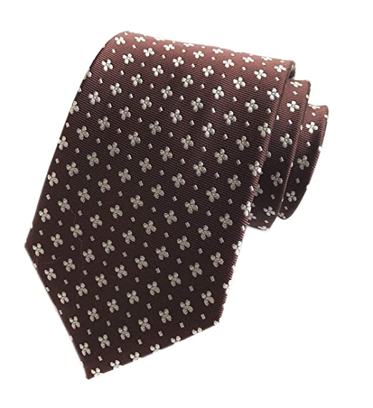 c59576294b34 Men's Brown Silk Ties Banquet Beautiful Novelty Neckties Gift Ideal for  Husband at Amazon Men's Clothing store: