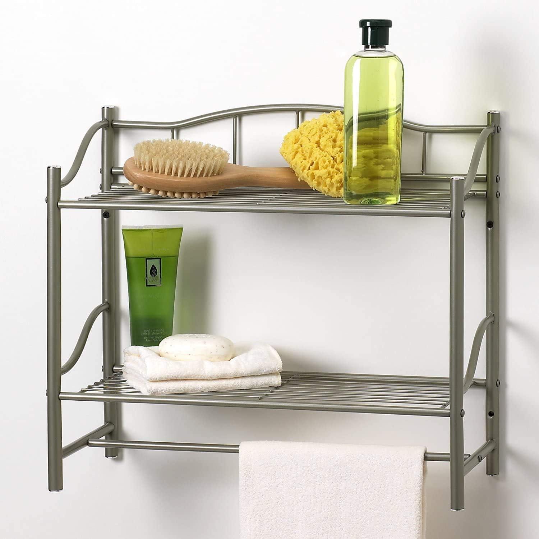 #1 Estante Para Baños Del Toilet Repisa Estantes De La Pared Poner En El Baño