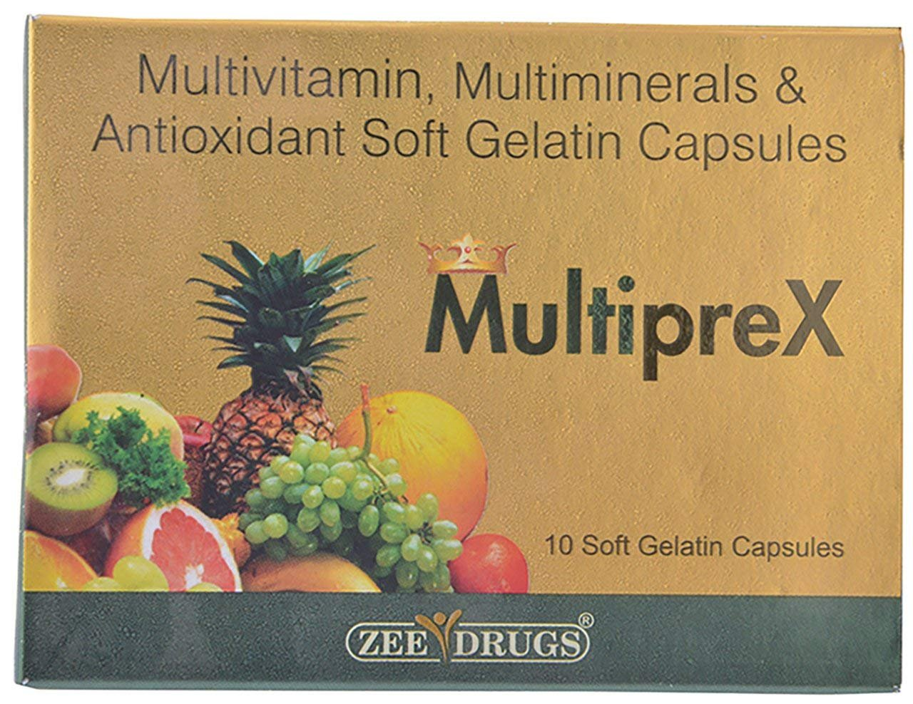 Amazon.com: MultiPreX 150 Caps - Multivitamin, Multimineral & Antioxidant Softgel Zee Pharma - Ayurveda: Health & Personal Care