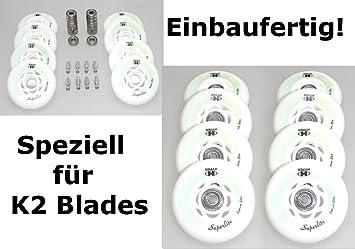K2 - Juego de 8 ruedas Patines en línea montado montado Hyper ...