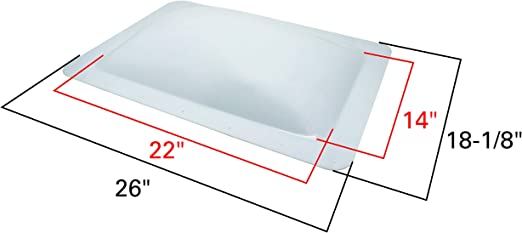 Quick Products QP-RVSC Premium Heavy-Duty RV Skylight 14 x 22 x 4 Replaces Icon 01820 SL122 Clear