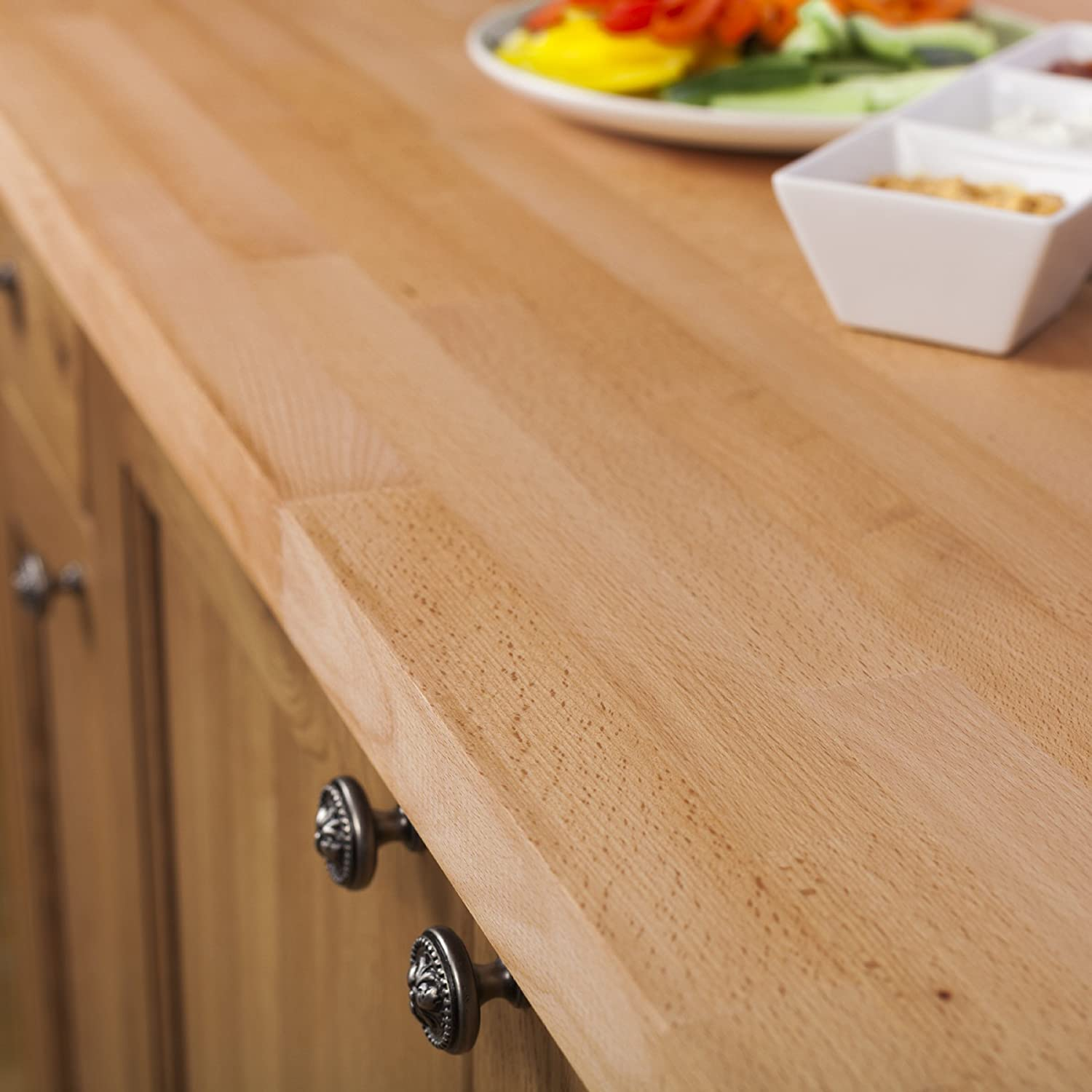 Solid Beech Wood Kitchen Worktop