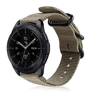Fintie Correa para Samsung Galaxy Watch Active2/Galaxy Watch Active/Galaxy Watch 42mm/Gear Sport/Gear S2 Classic - 20mm Pulsera de Repuesto de Nylon ...