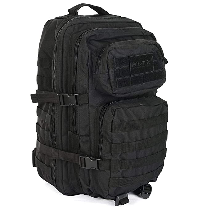 1e8f2fcd06b7a Mil-Tec Military Army Patrol Molle Assault Pack Tactical Combat Rucksack  Backpack Bag 20L Black
