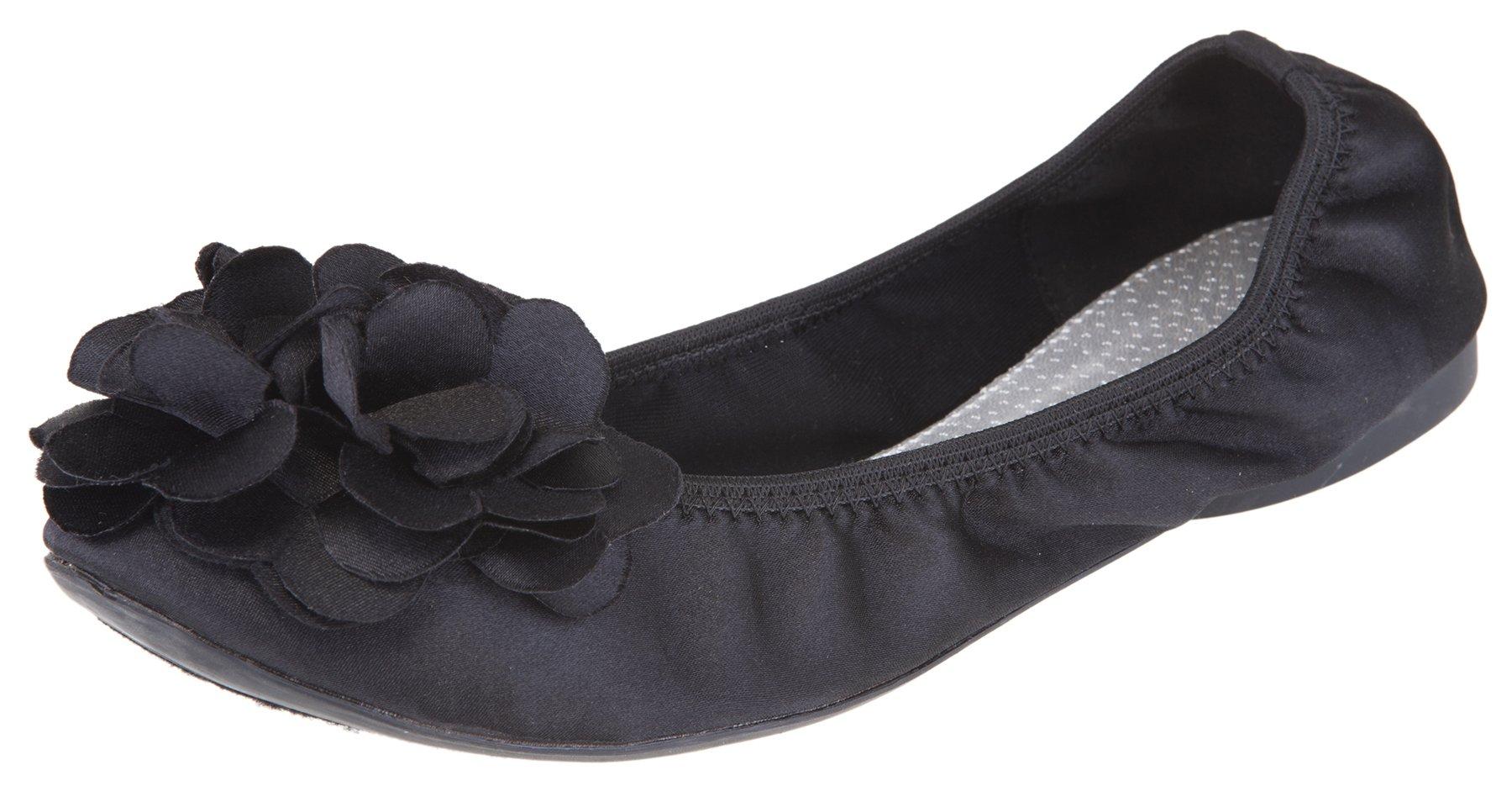 Outlandish Shoes Women's Poppy Ballet Flat (9 B(M) US, Black)