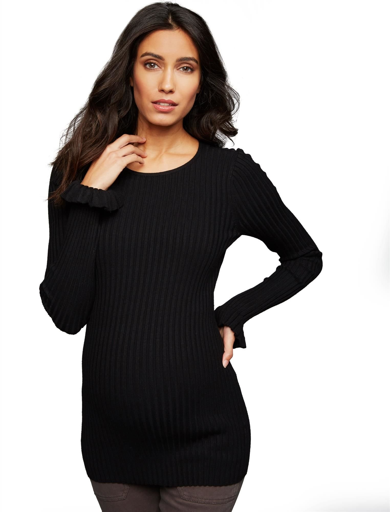 A Pea in the Pod Sleeve Detail Maternity Sweater