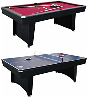 Amazoncom Hathaway Maverick Foot Pool And Table Tennis Multi - Combination pool and ping pong table
