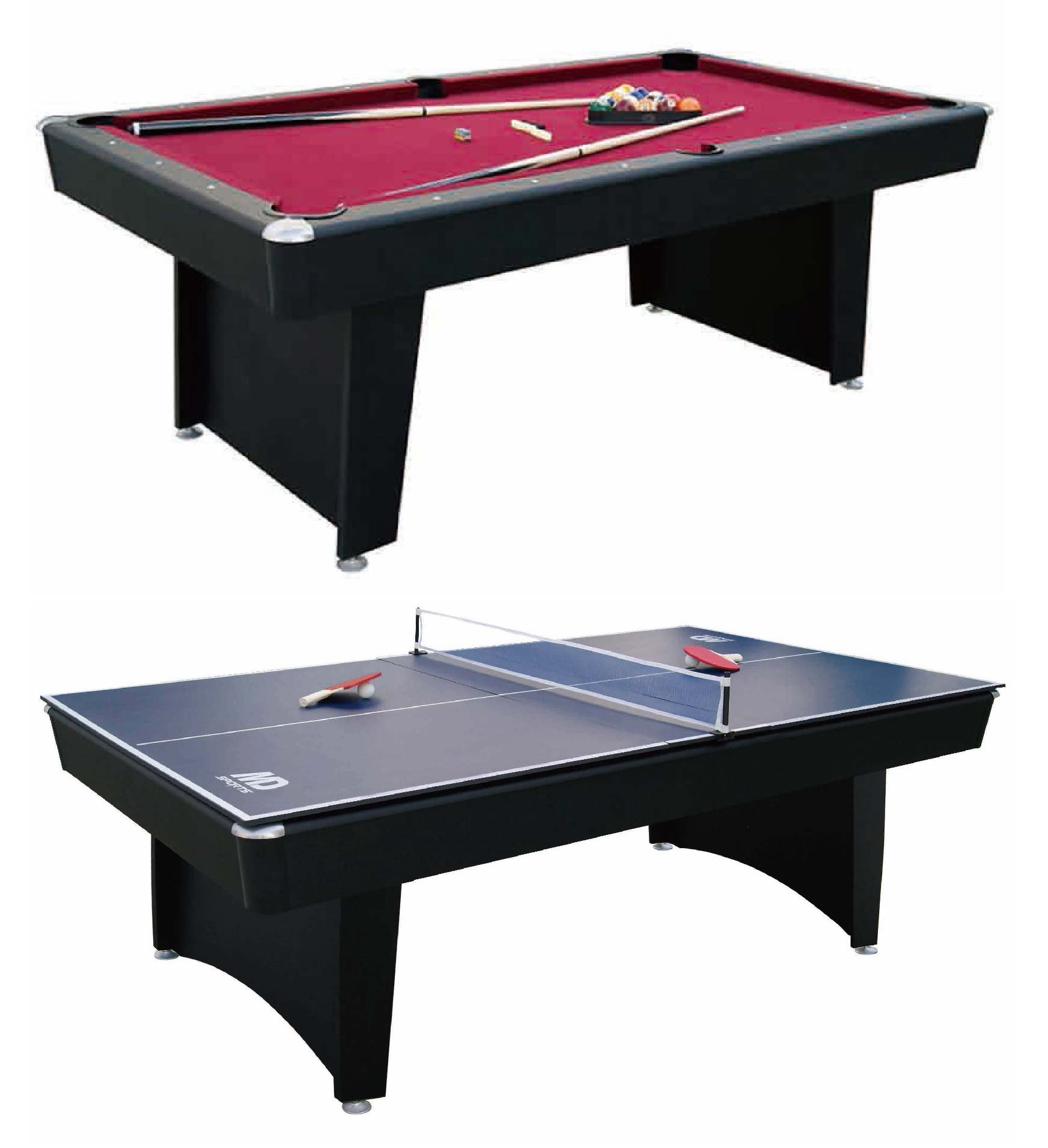 MD Sports 84'' Billiard Table and Table Tennis Top Recreation Room Combination