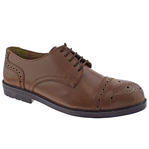 Shoes 89384 6 Lotus Uk Safety Mens Up Ii Brown Lace Leather Brogue CBrdxoQWe