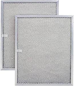 Aluminum Replacement Range Filter Compatible With Kitch-N-Vent 99010196; Nutone 99010196; Rangeaire 610004; Ventrola 99010196- Dimensions: 8-1/4 x 11-1/4 x 3/8 PTLS - 2 Pack