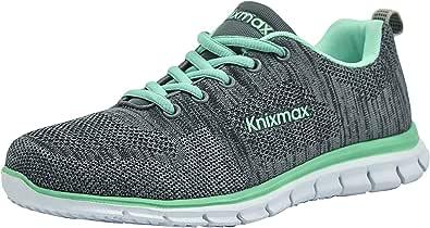 Knixmax-Zapatillas Deportivas para Mujer, Zapatillas de Running Fitness Sneakers Zapatos de Correr Aire Libre Deportes Casual Zapatillas Ligeras para Correr Transpirable, 36-41EU: Amazon.es: Zapatos y complementos