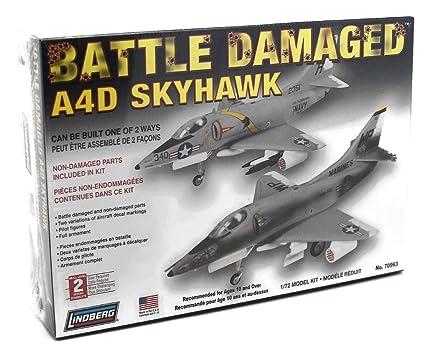 Amazon.com: Batalla Dañado A4D Skyhawk Lindberg – Modelo de ...