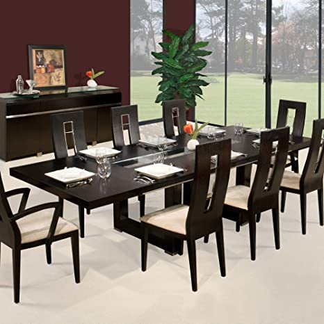 Amazon.com: Novo rectangular mesa de comedor extensible ...