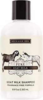 product image for Beekman 1802 - Shampoo - Pure Goat Milk - Fragrance-Free Color-Safe Goat Milk Shampoo - Naturally Moisturizing Sulfate-Free Shampoo for All Hair Types & Textured Hair - Goat Milk Hair Care - 8.9 oz
