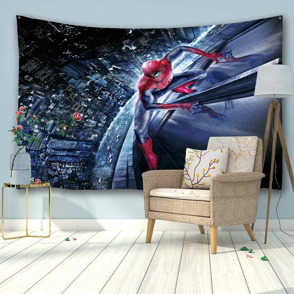"""PROCIDA Home Tapestry Wall Hanging Nature Art Polyester Fabric Galaxy Space Theme, Wall Decor for Dorm Room, Bedroom, Living Room, Nail Included - 90"""" W x 60"""" L (230cmx150cm) - Spiderman"""