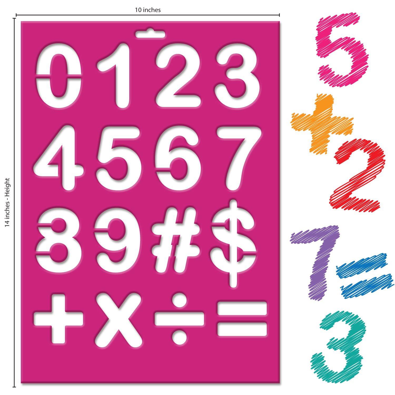 Amazon.com: Karty Letter Stencils - Large Size Alphabet, Numeric ...