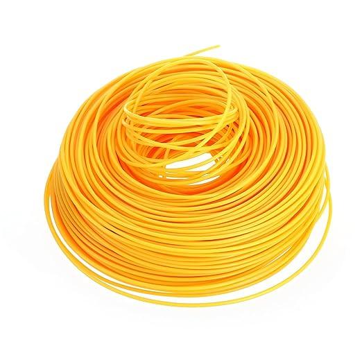 ounona 100 M 2 mm redondo nailon desbrozadora Line (naranja ...