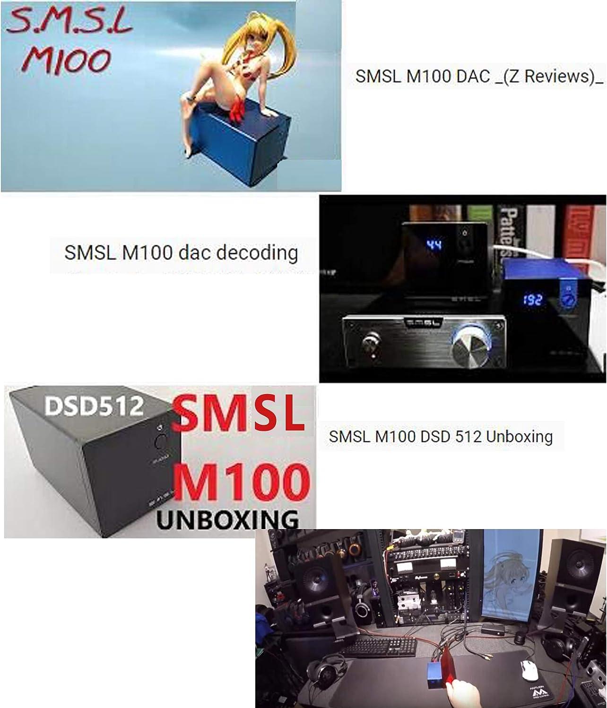 Gamogo SMSL M100 Audio USB DAC AK4452 Decodificador de Alta fidelidad DSD512 Amplificador Digital USB Entrada /óptica coaxial Conversor anal/ógico a Digital