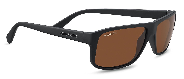 Serengeti Eyewear Erwachsene Levanzo Sonnenbrille, Satin Black, Medium/Large