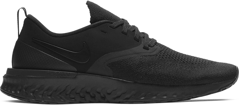 Nike Women's Odyssey React Flyknit 2 Running Shoe Black/Gunsmoke/Oil Grey