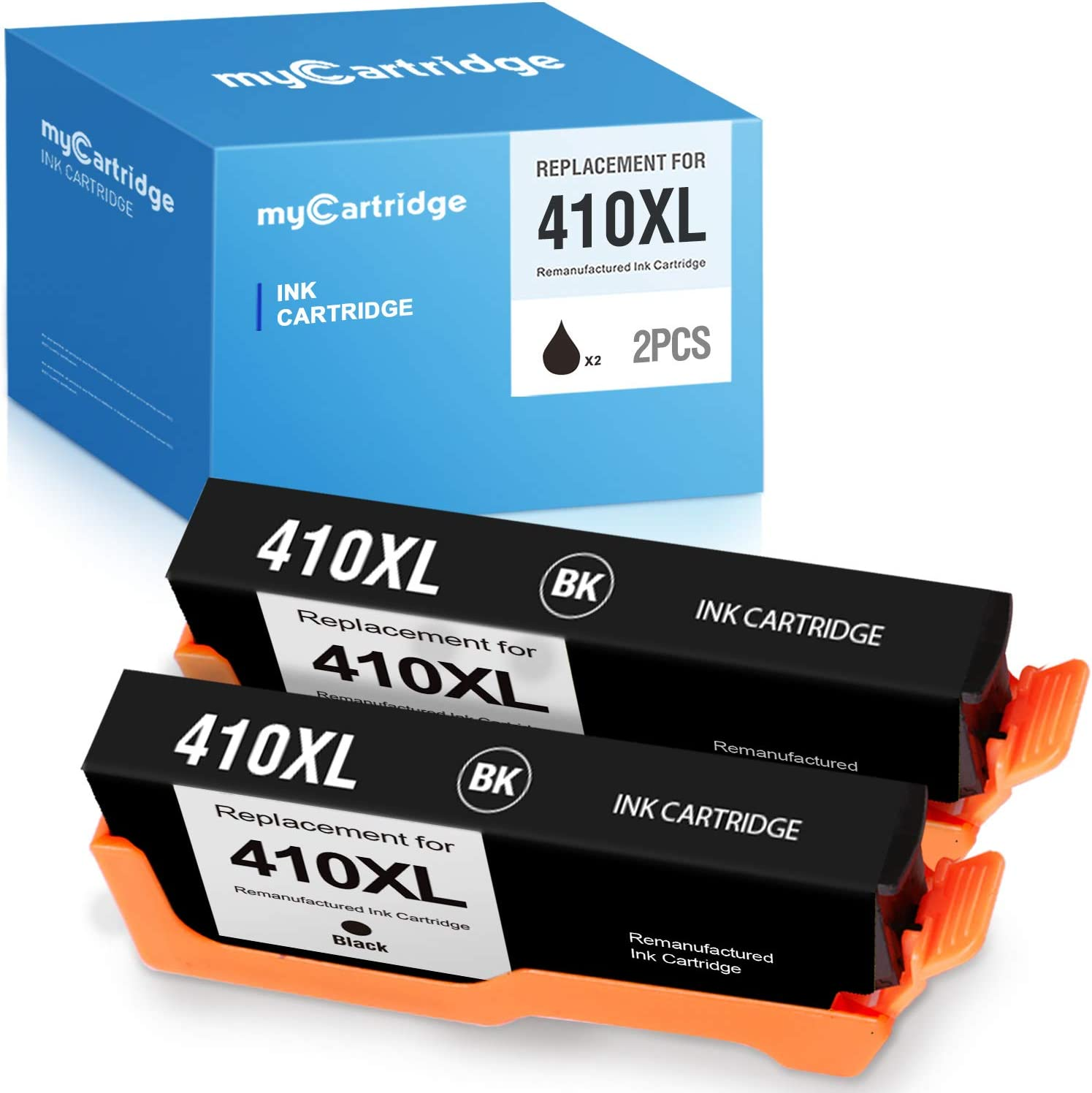 myCartridge Remanufactured Ink Cartridges Replacement for Epson 410XL 410 XL T410XL Ink Cartridge use with XP-640 XP-830 XP-7100 XP-630 XP-530 XP-635(2-Pack,Black)