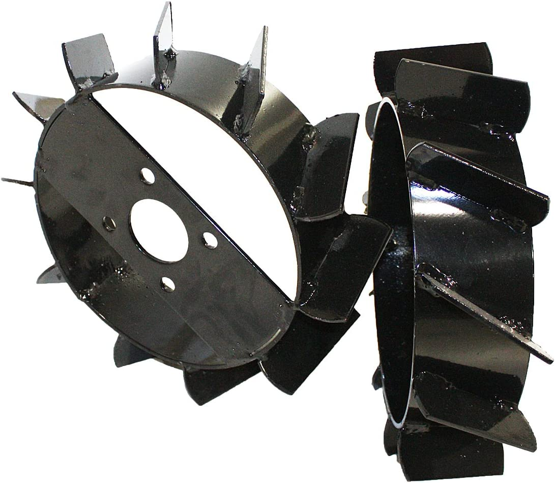 Bricoferr PT60001 Ruedas metálicas (aperos de motoazada)