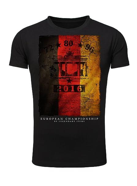 Legendary Items camiseta Alemania Fútbol Fútbol EM 2016 Camisa De Hombre Bandera - algodón, Negro