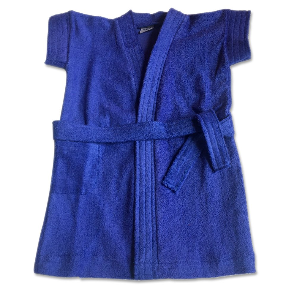 Extra Soft 100% Cotton Premium Quality Baby & Toddlers (0-5yr) Comfortable Bath Robe (2/1-2yr, Royal Blue) by Tee&Tot