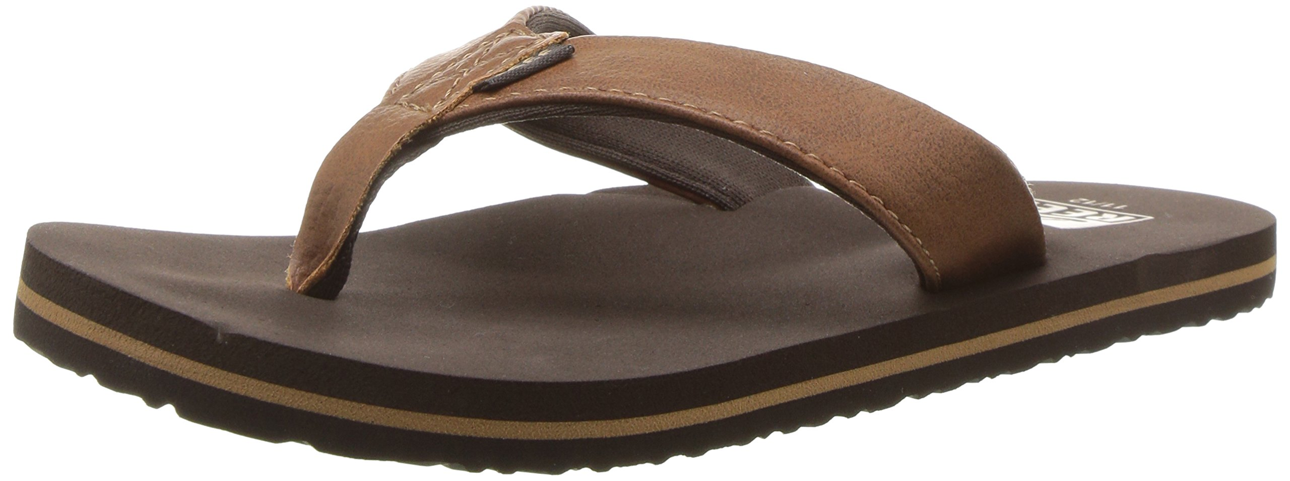 Reef Boys' Grom Twinpin-K Sandal, Brown, 04R (4/5 M US Big Kid M US Big Kid)